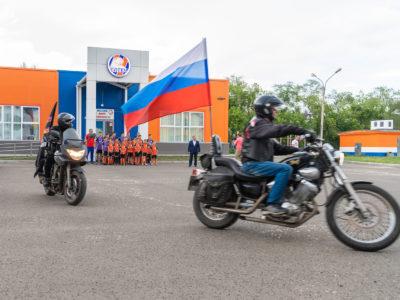 Байк-клуб «Ночные волки» в гостях у ФК «Тотем»